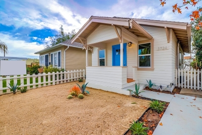 San Diego Single Family Home For Sale: 3724 Bancroft St