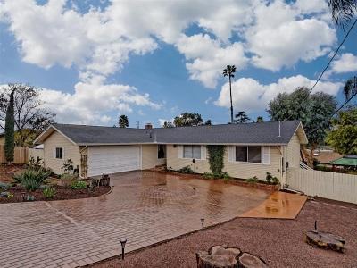 Fallbrook Single Family Home For Sale: 920 Hillpark Ln.