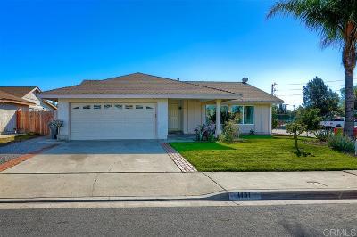 Escondido Single Family Home For Sale: 1131 N Sander Ct