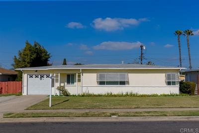 Chula Vista Single Family Home For Sale: 117 Halsey St.