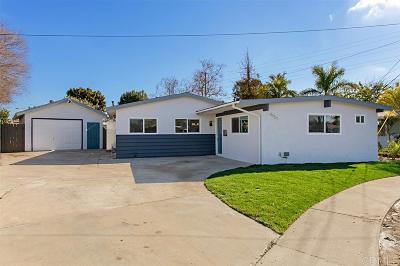 San Diego Single Family Home For Sale: 4951 Roscrea Ave