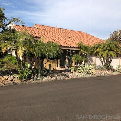el cajon Single Family Home For Sale: 1363 Timberpond Drive