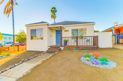 San Diego Single Family Home For Sale: 3804 Chamoune Ave