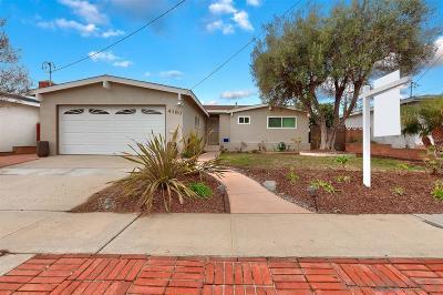 San Diego Single Family Home For Sale: 4180 Amoroso St