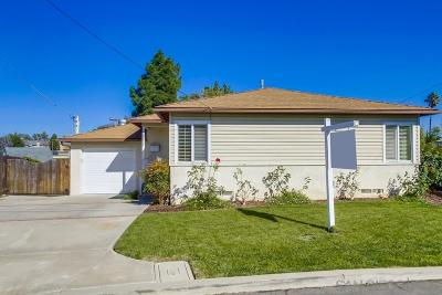 San Diego Single Family Home For Sale: 6428 Stanley Ave