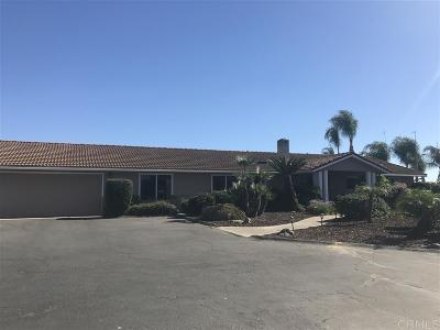 Escondido Single Family Home For Sale: 2585 Reed Road