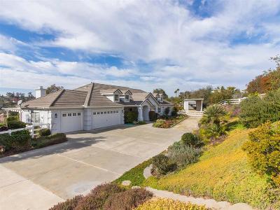 Fallbrook Single Family Home For Sale: 1020 Hughes Ln
