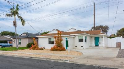 San Diego Single Family Home For Sale: 4974 Vandever Ave