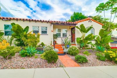 San Diego Single Family Home For Sale: 1417 Van Buren Ave