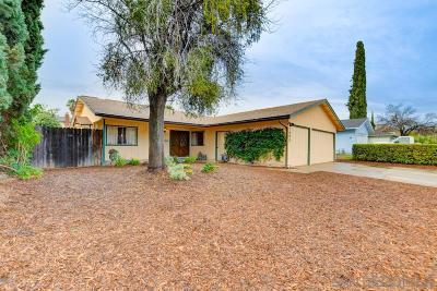 Escondido Single Family Home For Sale: 1085 Daisy St