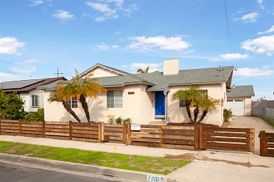 San Diego Single Family Home For Sale: 7410 Gribble St