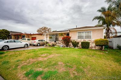 San Diego Single Family Home For Sale: 4984 Date Pl