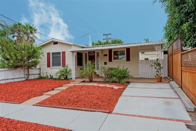 San Diego Single Family Home For Sale: 3207 Collier