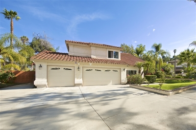 el cajon Single Family Home For Sale: 491 Skywood