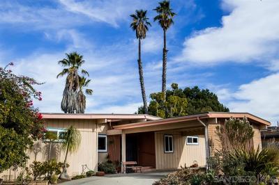 El Cajon Single Family Home For Sale: 2567 Carlow Ln