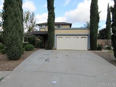 Escondido Single Family Home For Sale: 1271 Marjorie Pl