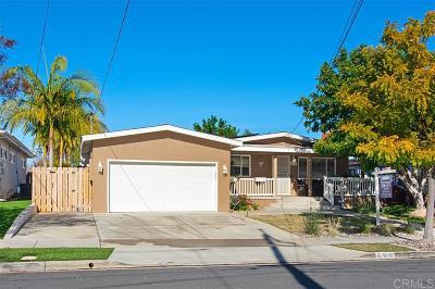 El Cajon Single Family Home For Sale: 898 Laguna Ave