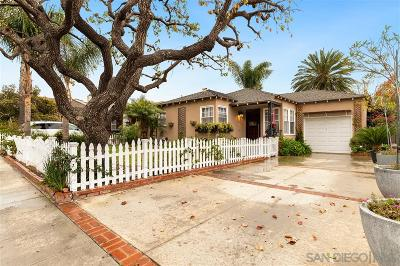 San Diego Single Family Home For Sale: 3327 Sterne St