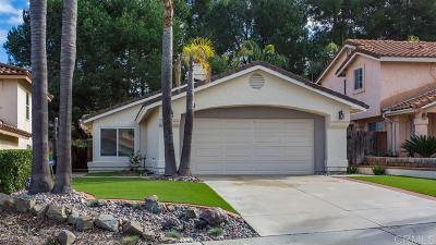 Escondido Single Family Home For Sale: 1272 Rachel Circle