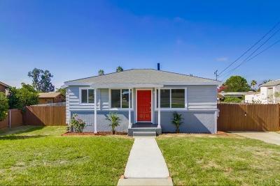 Single Family Home For Sale: 2754 Preece Street