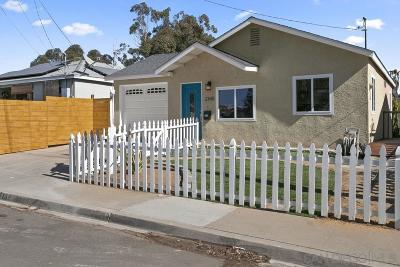 San Diego Single Family Home For Sale: 2345 Tulip St