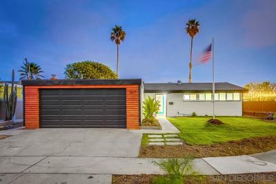 San Diego Single Family Home For Sale: 2617 Larkin Pl