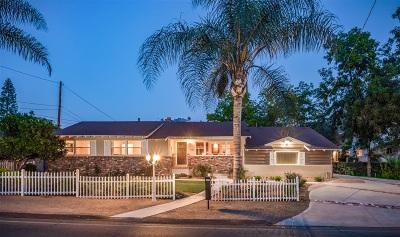 La Mesa Single Family Home For Sale: 9324 Carmichael Dr