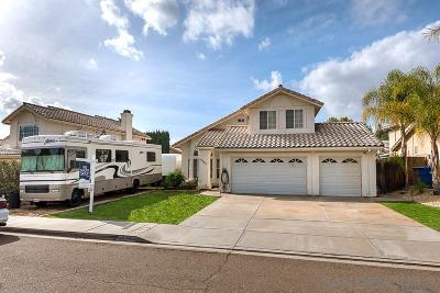 el cajon Single Family Home For Sale: 13764 Wyeth Road