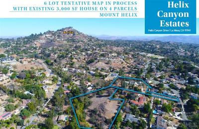 La Mesa Single Family Home For Sale: 4343 Helix Canyon