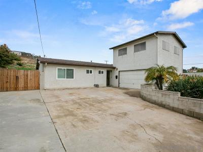 Chula Vista Single Family Home For Sale: 595 Douglas Street