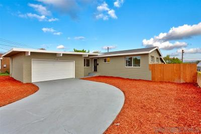 San Diego Single Family Home For Sale: 717 Pyramid St