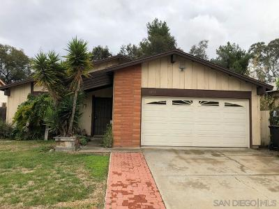 San Diego CA Single Family Home For Sale: $595,000