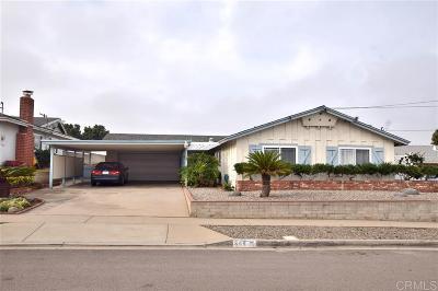 Chula Vista Single Family Home For Sale: 944 Maria Way