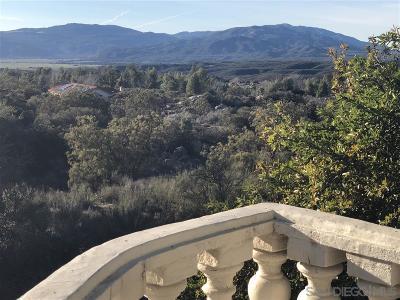 Warner Springs CA Single Family Home For Sale: $295,000