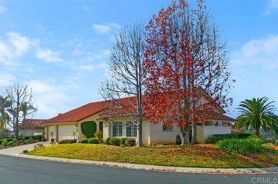 Fallbrook Single Family Home For Sale: 1019 Ridge Heights Dr.