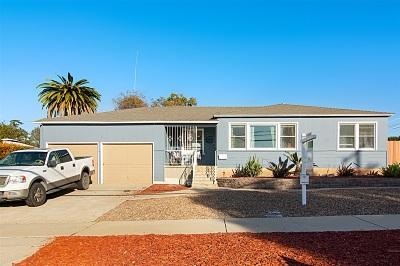 Chula Vista CA Single Family Home For Sale: $489,000