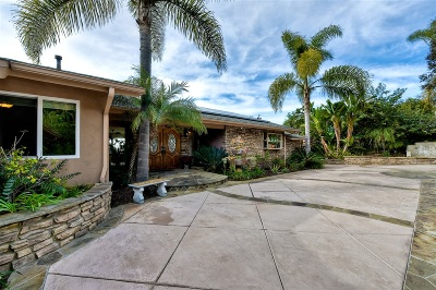 Carlsbad Single Family Home For Sale: 4143 Sunnyhill Drive