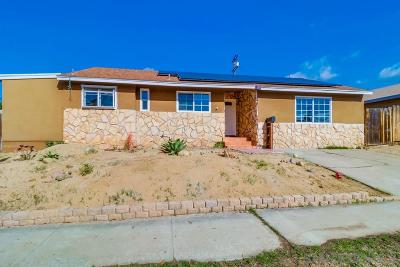 La Mesa Single Family Home For Sale: 7160 Grable St.