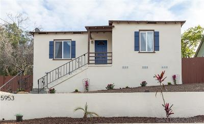 San Diego Single Family Home For Sale: 5953 Balmoral Dr.