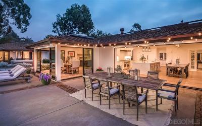 Rancho Santa Fe Single Family Home For Sale: 5050 El Secreto