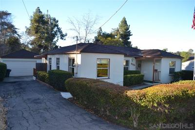 La Mesa Single Family Home For Sale: 9033 Madison Ave