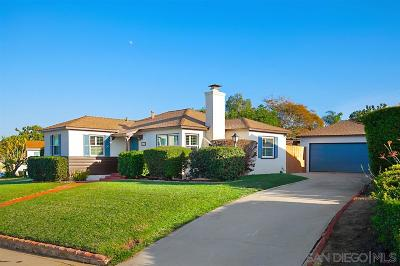 Point Loma Single Family Home For Sale: 3159 Meadow Grove Dr