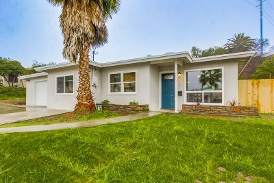San Diego CA Single Family Home For Sale: $480,000