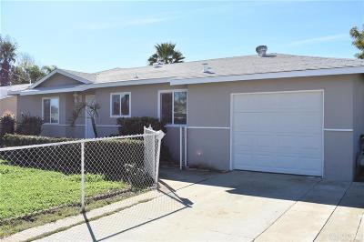 Escondido Single Family Home For Sale: 1023 Fern St