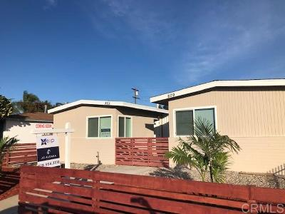 San Diego CA Multi Family 2-4 For Sale: $649,000