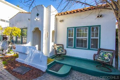 Point Loma Single Family Home For Sale: 319 Rosecrans St