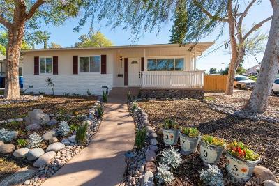 La Mesa Single Family Home For Sale: 3705 Fairway Dr