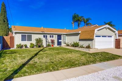 Clairemont Single Family Home For Sale: 6862 Tanglewood
