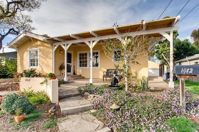 San Diego Single Family Home For Sale: 1012 Johnson Ave