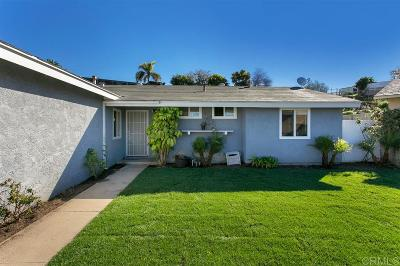 San Diego Single Family Home For Sale: 207 Redcrest Dr